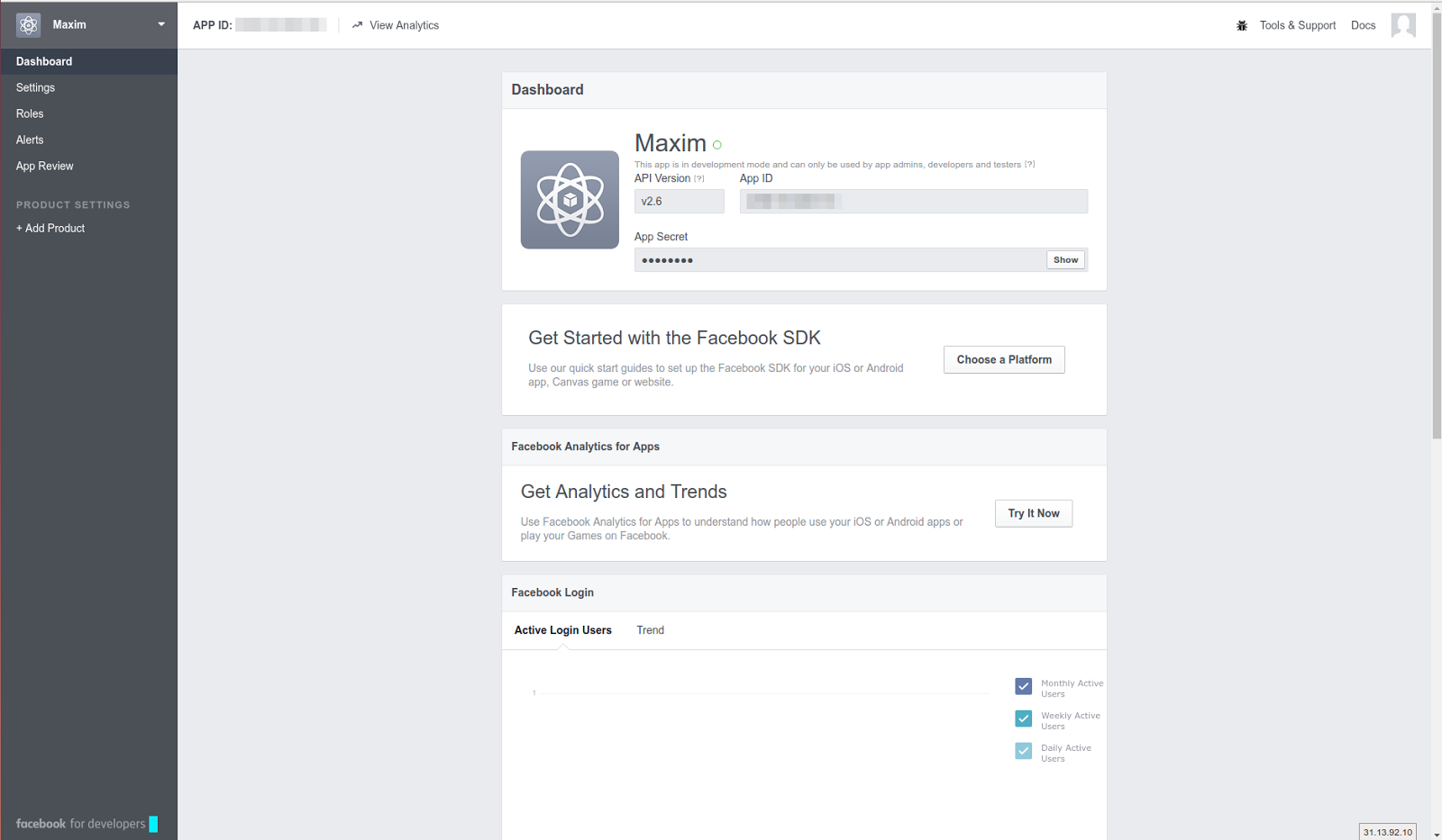In The Block 'get Started With Facebook Sdk ' Click 'choose A Platform'